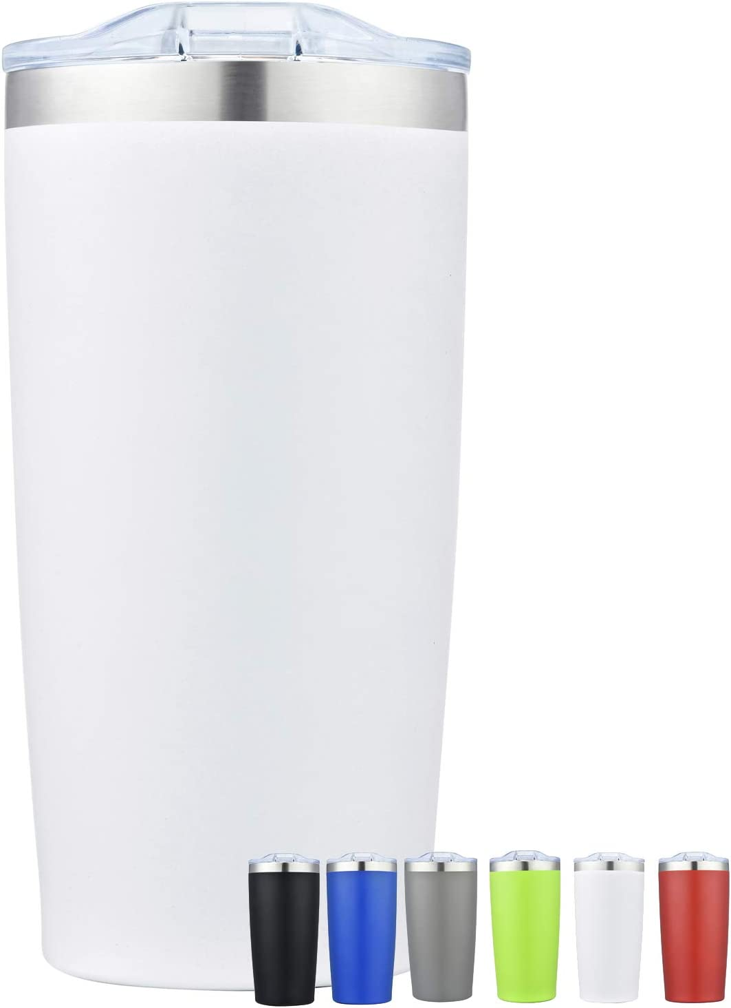 NuFazes Tumbler 20 oz Stainless Steel Tumbler Double Walled with Sliding Lid
