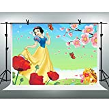 FH 10x7ft Disney Princess Snow White Background Winnie the Pooh Flowers Cartoon Photography Backdrop Themed Party YouTube Backdrops Photo Booth Studio Props TMFH046
