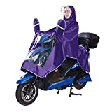 Men Women Coat Raincoat Double Hat Rain Poncho Oxford Cape Garment Jacket Anti-rain Big Thick Breathable with Raincoat Mirror Waterproof for Motorcycle Scooter Cycling Bike Riding