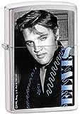 Zippo Elvis Blue Brushed Chrome Lighter