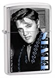 Zippo Elvis Blue Brushed Chrome Lighter