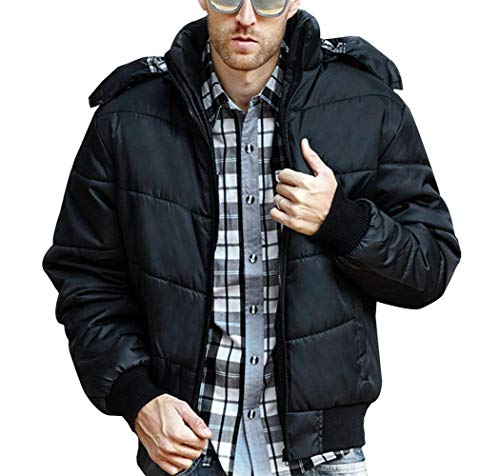 Schwarz Riscaldamento Riscaldare Maschile Rivestimento Cappuccio Con Abbigliamento Del Inverno Grau Parka Cappotto Rm Trapuntato H4xw17InqP