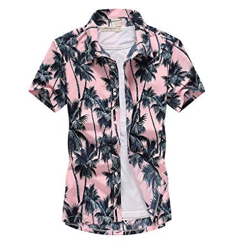 [XINXIKEJI] アロハシャツ メンズ かりゆしウェア メンズ夏 ビーチシャツ 半袖シャツ 開襟シャツ オープンカラー 大きいサイズ 夏 総柄プリントシャツ ゆったり おしゃれ 花柄アロハシャツ S-5XL