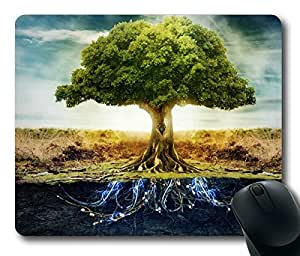 Abstract Tree Vitality Rectangle mouse pad by Custom Service Your Best Choice