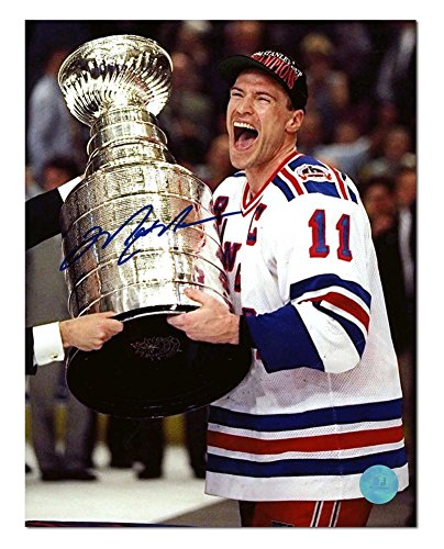 Mark Messier New York Rangers Autographed 1994 Stanley Cup 8x10 Photo - Authenticity (Mark Messier Autographed Photo)