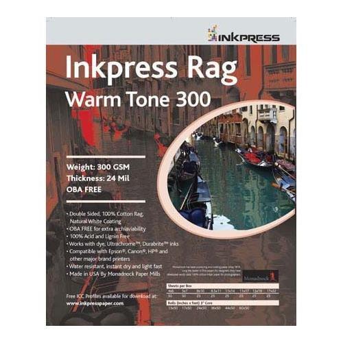 - Inkpress PRWT3004650 Fine Art Rag Warmtone 300 GSM 4in. X 6in. 50 Sheets