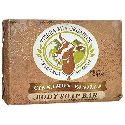 Tierra Mia Organics Body Soap Bar, Cinnamon/Vanilla, 4.2 Ounce