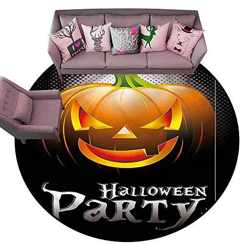 Entrance Modern Area Rugs Halloween,Party Theme Scary Pumpkin Diameter 60