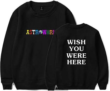 JJZHY Travis Scott AstroWorld Personalized Print Casual Sweatshirt Unisex