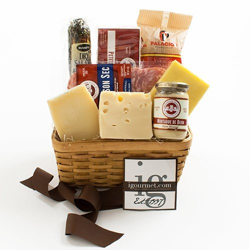 [Basket of Meat and Cheese Favorites (5.1 pound) by igourmet] (Black Kassel Salami)