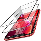 TOZO for iPhone XR Screen Protector [ 3D Full Frame ] Premium Tempered Glass (2 Pack) 9H Hardness for iPhone XR 6.1 inch (2018) with [Easy Installation Tool]