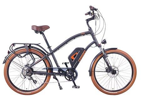 Leisger CD5 - Electric Crusier Style Bicycle - 350 Watt motor - Panasonic Battery 36V 13A - Black