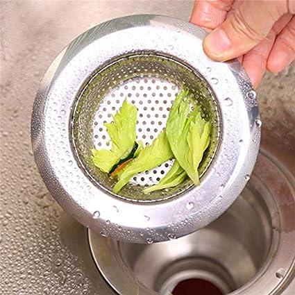 Kitchen Bathroom Metal Basket Waste And Hair Catcher Filter Sink Drain Strainer