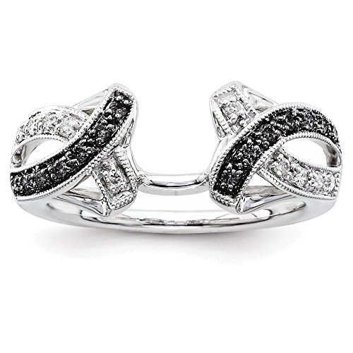 14k White Gold Black & White Diamond Ring Wrap Diamond quality AA (Aa Diamond Mens Ring)