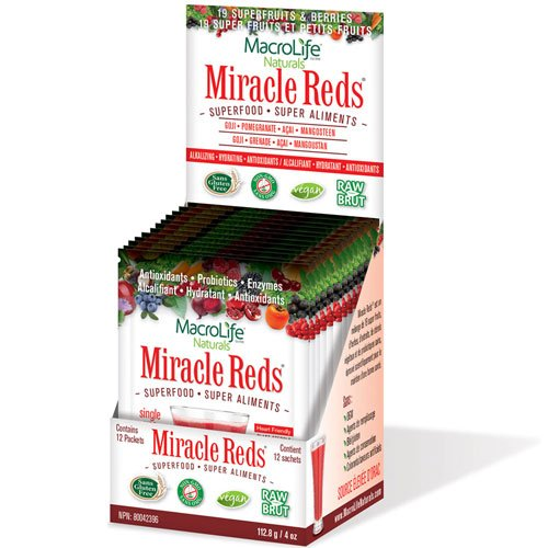 (Macro Life Naturals Miracle Reds, Anti-oxidant Super Food Supplement, Great Berry Flavor )