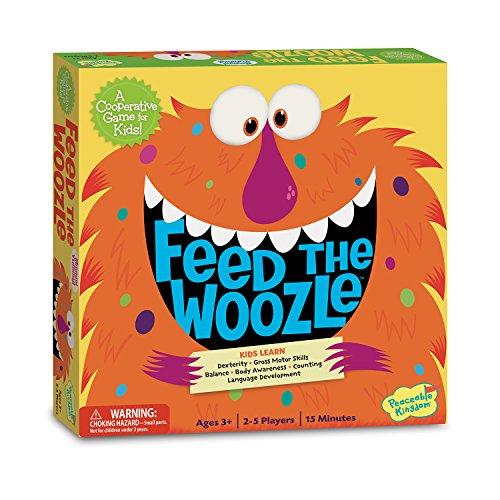 Peaceable Kingdom Feed the Woozle Award Winning Preschool Skills Builder Game for Kids