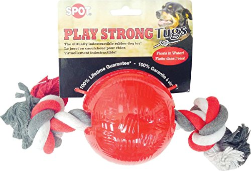 Ethical Pets Ethical Pet Play strong tug Ball with Rope - Sm