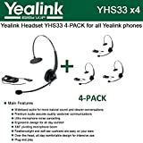 4 phone package -  Bundle of 4 Yealink YHS33 Wideband Headset for Yealink IP Phones, plug and play