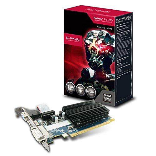 Sapphire 11233-01-20G GRA PCX AMD Radeon R5 230 passiv Grafikkarte (PCI-e, 1GB GDDR3 Speicher, HDMI, DVI, VGA, 1 GPU)