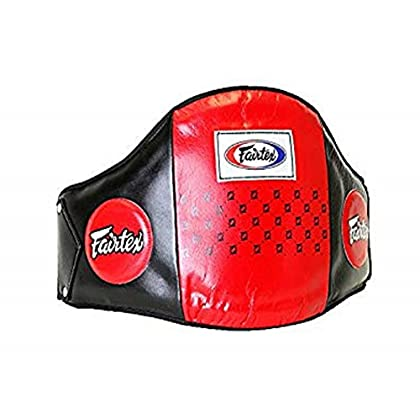 Image of Fairtex Leather Rib Guard Body Protector Belly Pad Chest & Rib Guards