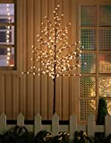 Image of WED 6 Feet 208 LED Cherry Blossom Tree Lights with Flexible Branches, Indoor and Outdoor Decoration, Warm White Lights