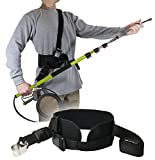 Backyard Accessories Pressure Washer Two Strap Belt – Telescoping Wand Support Harness – Reduce Strain & Fatigue During Washing – Works with General Pump, BE, MTM & Others