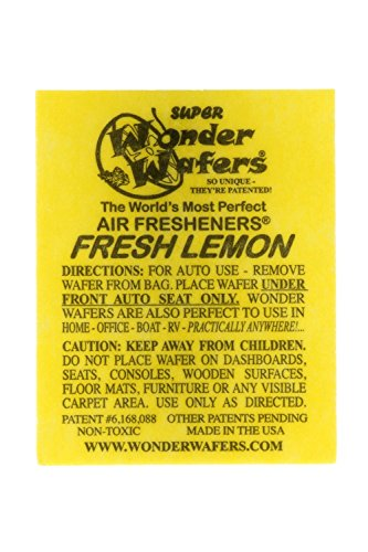 Wonder Wafers 3020 FRESH LEMON Scent Car Truck Air Freshener - 50 Pack