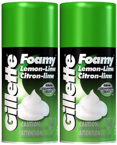 Gillette Foamy Shaving Cream, Lemon-Lime - 11 oz - 2 pk
