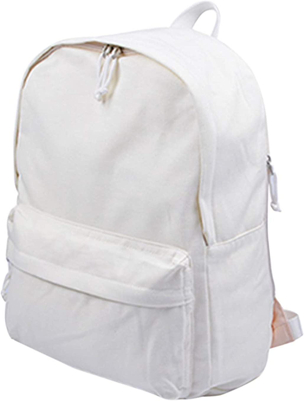 Jesdo DIY Canvas Backpack Large Casual Daypack Satchel