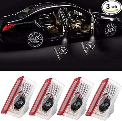 Car Door LED Lighting Logo Lights Projector Courtesy Welcome Lights Courtesy Shadow Spotlight for Mercedes-benz 4pcs