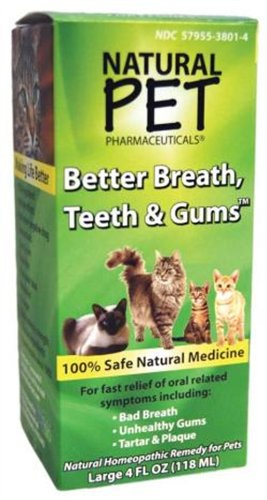 Natural Pet Better Breath Teeth and Gums For Cats 4 Ounces, My Pet Supplies