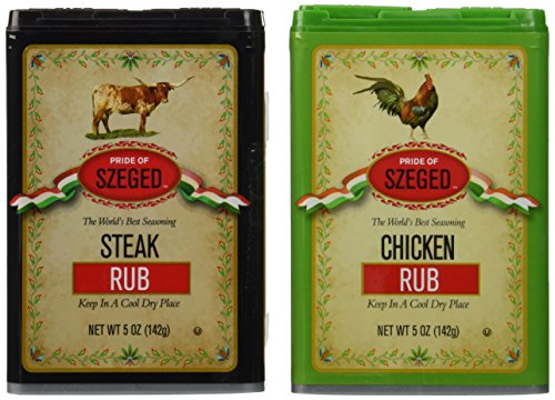 - Szeged Steak and Chicken Rub Combo Pack