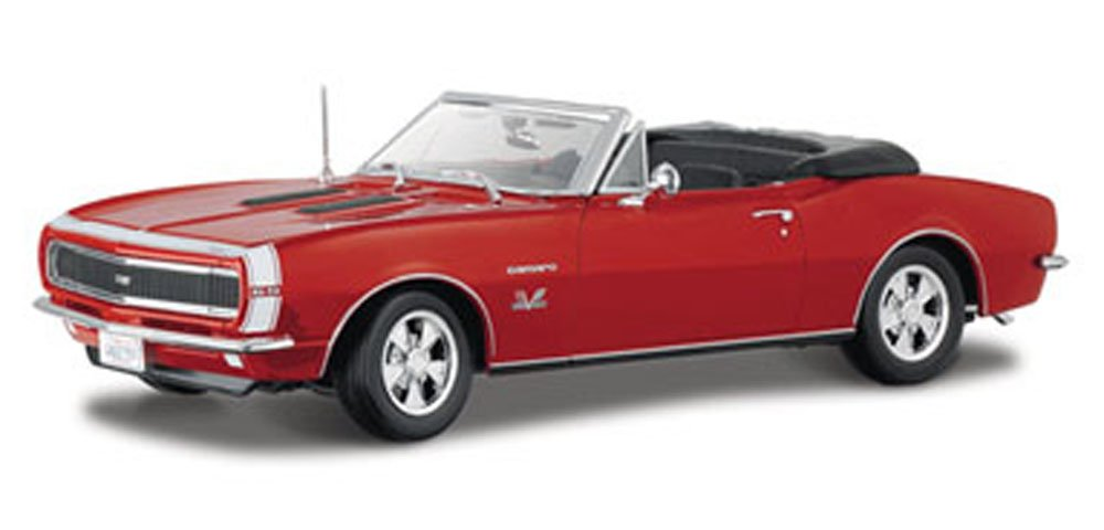 Maisto 1967 Chevy Camaro SS 396 Convertible, Red 31684 - 1/18 Scale Diecast Model Toy Car