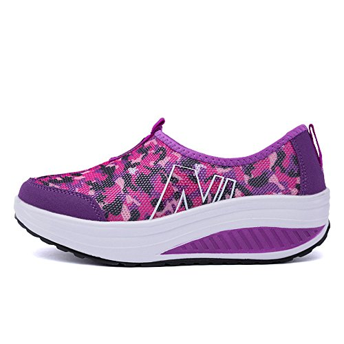 3309 Shape Fitness Platform Purple On Shoes Slip Lightweight Sneakers Women Up Walking EnllerviiD 5 Ptnqw5Ra