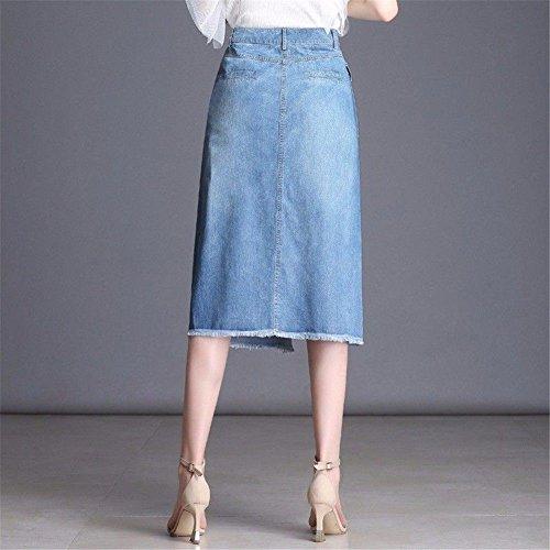 Pour Trapèze Femmes À Blue Taille Yuch Jupe Jupes Haute Uwq5RHHPW