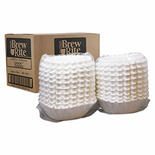 Basket Filters For Commercial Coffeemakers, 10 Cups, 1000 Filters/carton by Brew Rite®