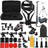 Lighten Outdoor Sports Accessories Kit for GoPro Hero 6/Hero 5 4 3+ 3 2 1/Hero(2018)/Fusion AKASO EK7000 APEMAN Campark FITFORT 4K WiFi Action Camera