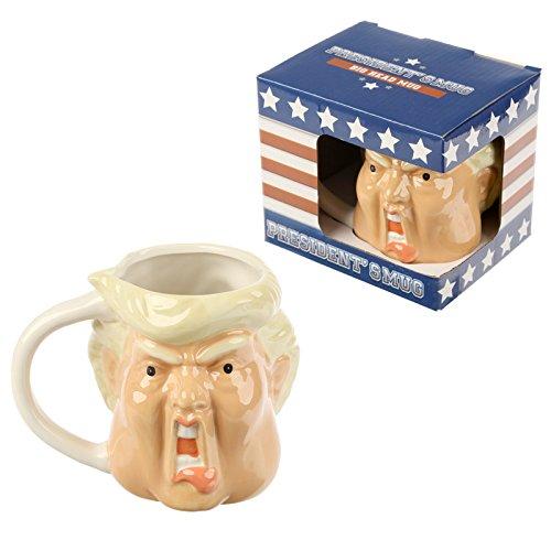 Puckator - Tazza mug in ceramica da colazione e porta penne Mr President in confezione regalo others