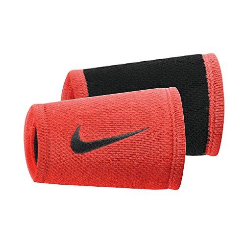 Nike Double Wide Wristbands - Nike Dri-Fit Stealth Doublewide Crimson/Black