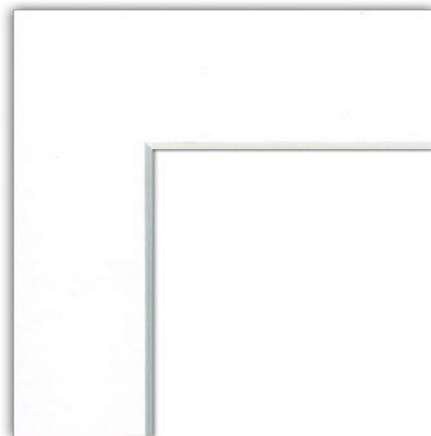 MyFrameStore White mat Board Fits 5 by 7-Inch Pictures into 8 by 10-Inch Frame