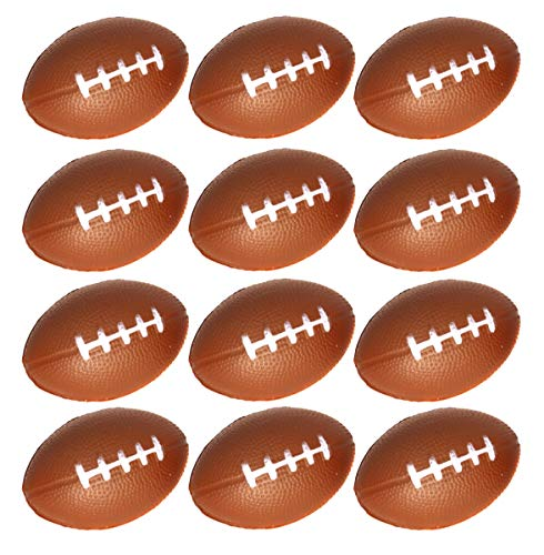 (Mini Foam Football Stress Balls For Kids Football Themed Parties And Party Favors - Pack Of 12 Stress Footballs)