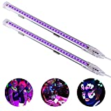 Viugreum 2 Pack UV Black Lights LED Bar,9W Portable Blacklight Fixture for Blacklight Poster,Party,Festivals,Halloween UV Art,Ultraviolet Curing,Uthentication Currency,Stain Detector (Ship from USA)