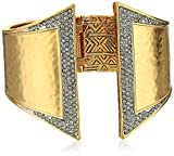 House of Harlow 1960 Golden Scutum Hinge Cuff Bracelet
