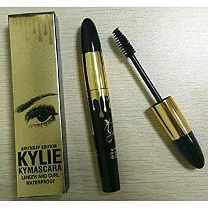 Lady Beauty Kylie Jenner Extension Eyelashes Mascara Waterproof Long Curling Lashes Edizione Oro (Oro + Nero) Makeup Tool