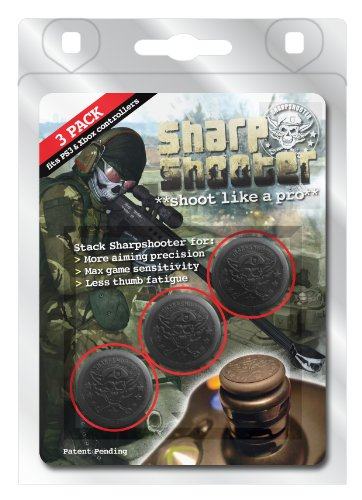 THUMSTAX Classic Black Sharpshooters (3 Pack) Multi-stack...