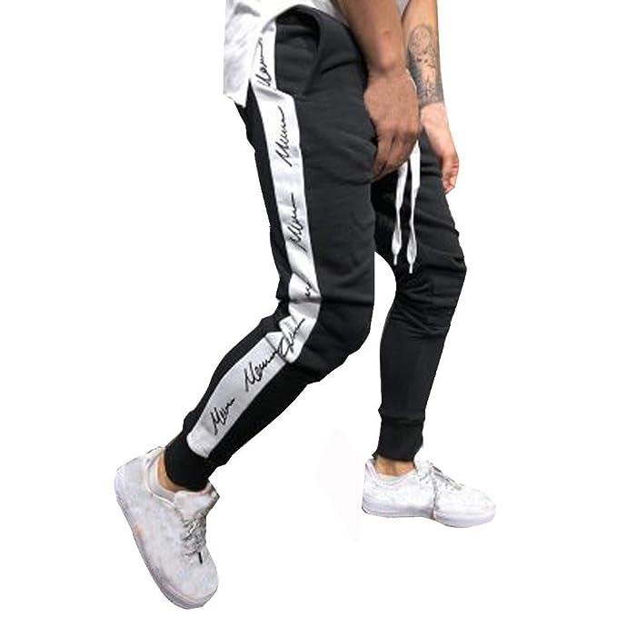 519a0b64287ff YanHoo Pantalones de chándal Sueltos Ocasionales de la Aptitud del Deporte  de los Hombres de la Moda Que activan Pantalones de Jogging Camuflaje  Militar  ...