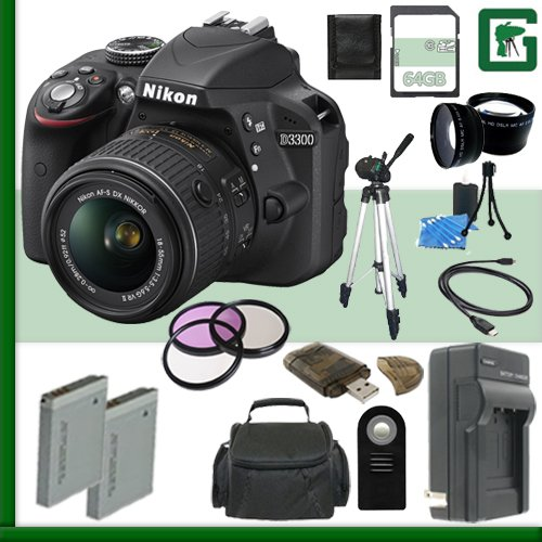 Nikon D3300 Camera Bundle Accessories