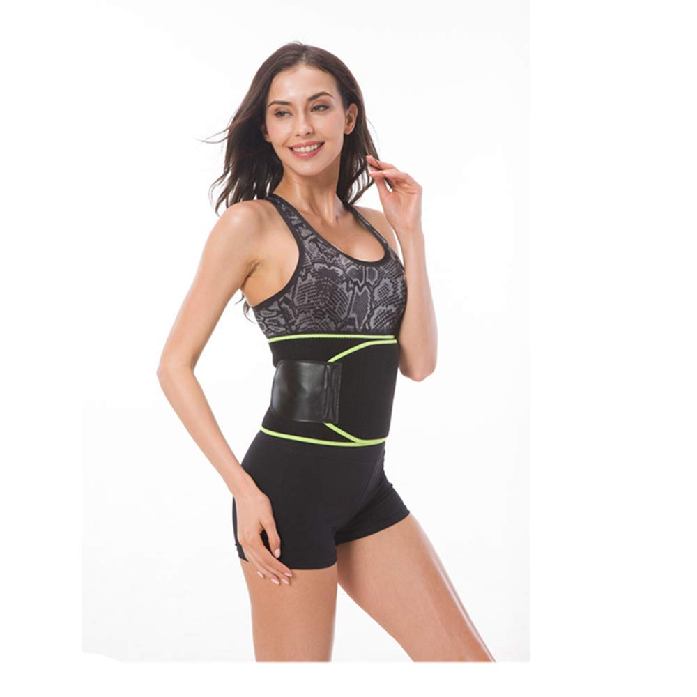 Waist Trimmer Belt, Breathable Sports Adjustable Fitness Belt,Weight Loss Wrap,Low Back Lumbar Support for Women & Men,L WJX