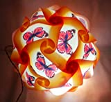 A2Z, Self Assemble Lantern Diwali Jigsaw Puzzle Ball Designer Decorative Diwali Light Lamp Kandil (Butterflies Ball)