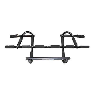 Sport Held® Premium Barre de traction pour cadre de porte avec coussinets main | pas de vis nécessaire | multifonctions–Barre de porte Long–pour les personnes jusqu'à 150&